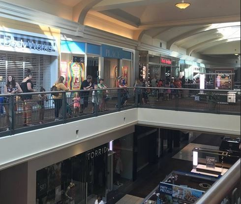Lines stretch through the mall at Parkway Place in Huntsville as people waited for the Pay-Your-Age promotion at Build-A-Bear. (Contributed photo/WHNT)