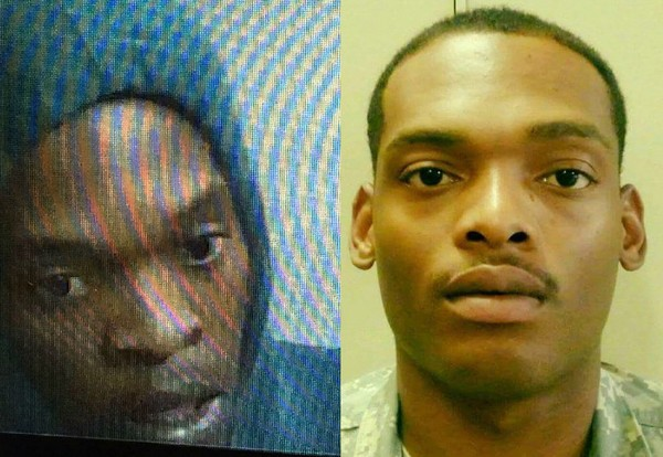 The person who burglarized Huntsville Utilities and a local pawn shop on May 1, 2016 is shown on the left. Steven McDowell, right, was wrongfully accused in the crimes.