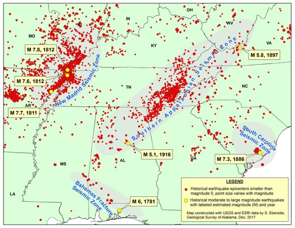 Alabama shakes: Small earthquakes are common but potential for a big on