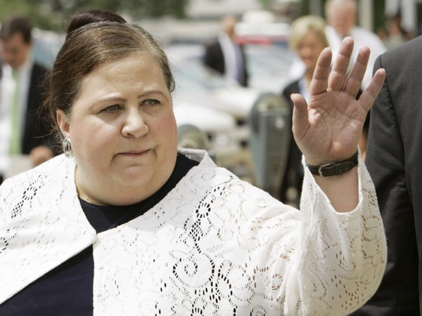 Nancy Worley, seen in 2007, has been re-elected as chairwoman of the Alabama Democratic Party, narrowly defeating a challenger who was backed by U.S. Sen. Doug Jones. AP