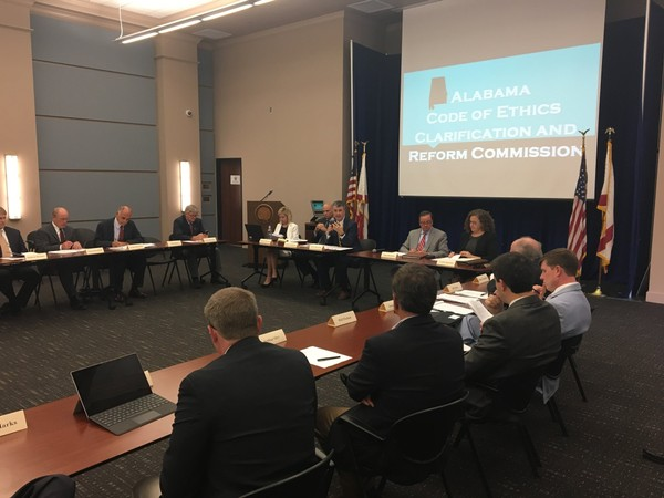 The Alabama Code of Ethics Clarification and Reform Commission met Tuesday at the attorney general's office.