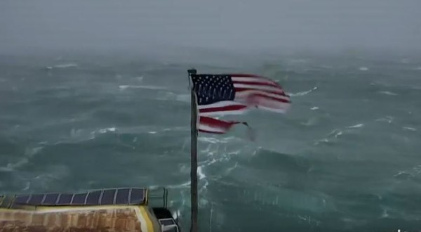 A Screenshot From The Frying Pan Tower Shows The Arrival Of Winds From Hurricane Florence