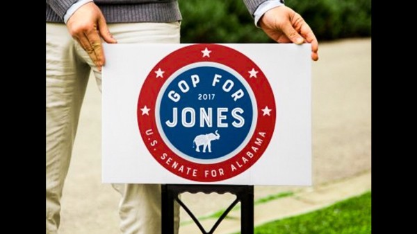 Some Alabama conservatives are rallying around democrat Doug Jones in order to keep Roy Moore out of the Senate. Graphic designer Jack Helean of Huntsville, Ala. created this photo mock-up using a #GOP4Jones logo he created. (Photo courtesy of Jack Helean | jack-visuals.com)