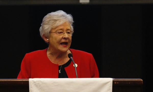 Alabama Gov. Kay Ivey speaks at Public Affair Research Council of Alabama annual meeting on Feb. 2, 2018, in Birmingham, Ala.