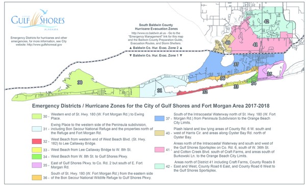 Gulf Ss Mayor issues evacuation order for west beach in Gulf ... Alabama Beaches Map on