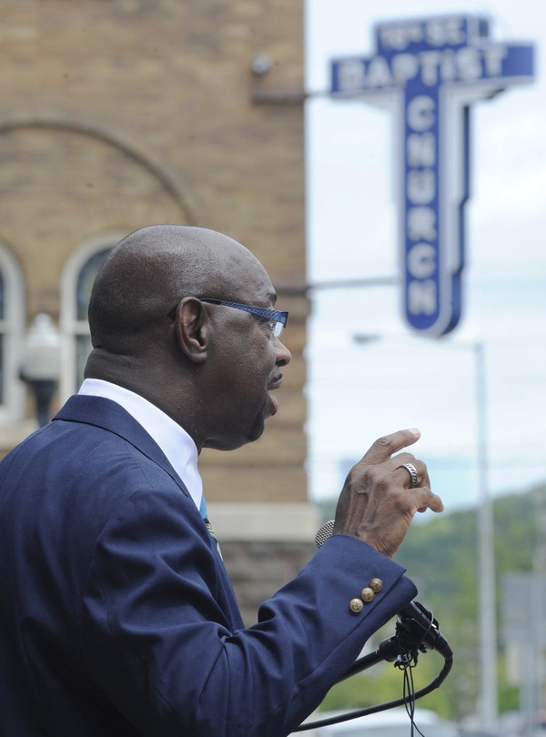 NAACP leader Hezekiah Jackson at16th Street Baptist Church in Birmingham, Ala.