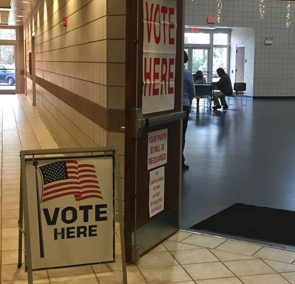Voting at Gardendale Civic Center for the U.S. Senate special election between Republican Roy Moore and Democrat Doug Jones on Dec. 12, 2017. (Josh Bean | jbean@al.com)
