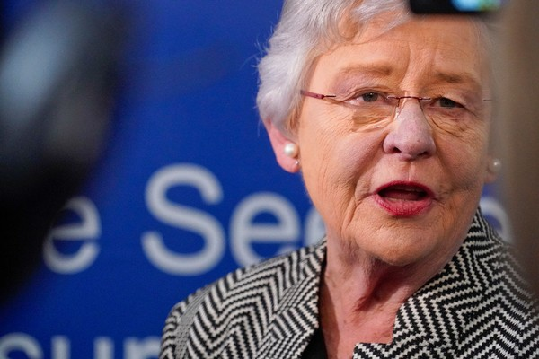 Alabama Governor Kay Ivey speaks with media following Boeing PAC-3 Missile Seeker Facility Expansion Ribbon-cutting event Friday April 6, 2018. Ivey will not participate in the Reckon by AL.com debate on Wednesday, April 18, 2018, in Birmingham, Ala. (Bob Gathany /bgathany@AL.com)