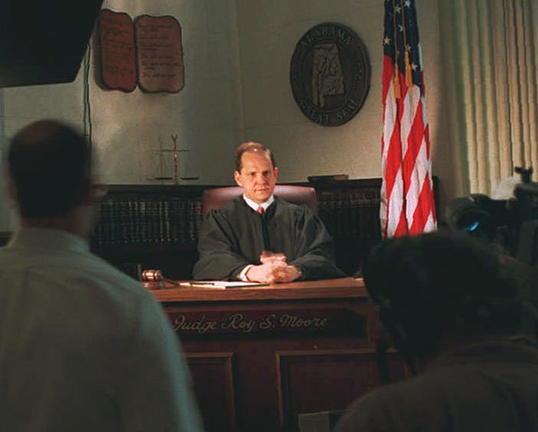 A 1995 file photo shows then-Judge Roy Moore in his chambers in the Etowah County court house. (AP Photo/Gadsden Times, Steve Latham)