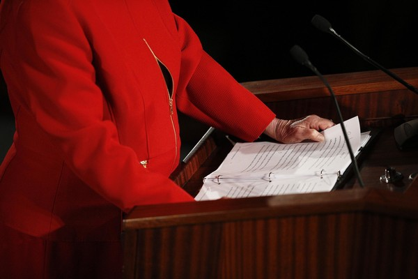 Alabama Gov. Kay Ivey speaks during the annual State of the State address at the Capitol, in Montgomery, Ala. Tuesday, Jan. 9, 2018, in Montgomery, Ala. (AP Photo/Brynn Anderson)