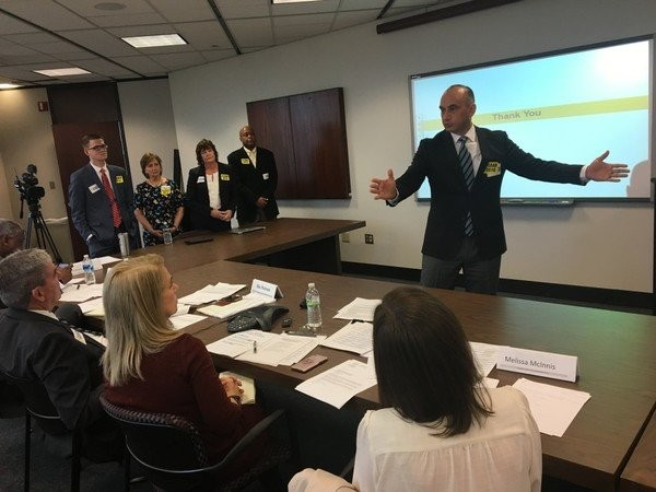 LEAD Academy officials answered questions from the Alabama Public Charter School Commission on Feb. 12, 2018, in Montgomery, Ala. (Trisha Crain | tcrain@al.com)