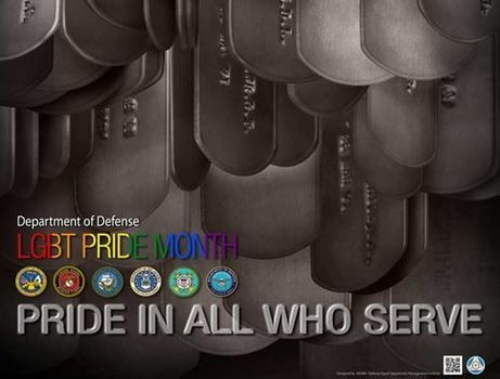 A 2017 Pride Month poster from the Pentagon. (Contributed photo/Department of Defense)