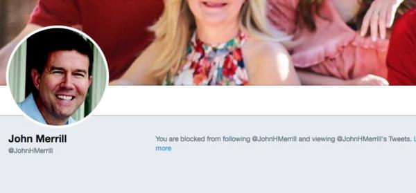 Alabama Secretary of State John Merrill has blocked multiple Alabama residents on Twitter. (Twitter)