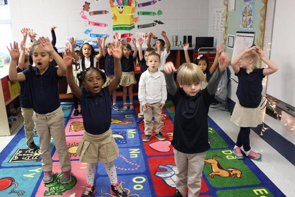 First Class Pre-K students in Collier Elementary School in Mobile County public schools.