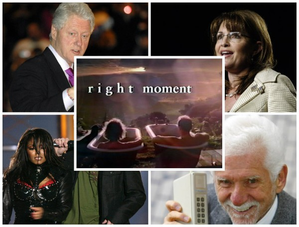 Bill Clinton, Sarah Palin, the wardrobe malfunction, cell phones and erectile dysfunction. The moments that changed America.
