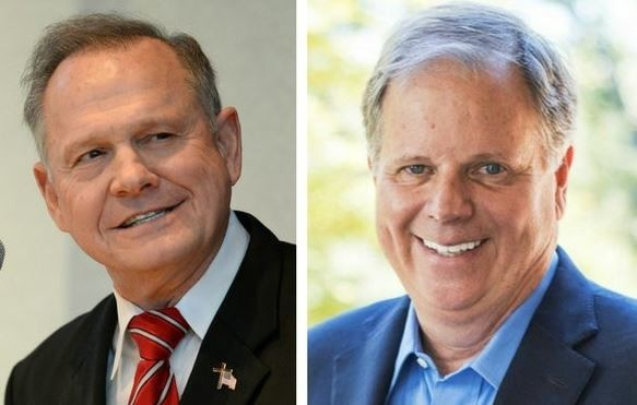 Roy Moore holds a slight lead over Doug Jones, according to an average of recent polling.