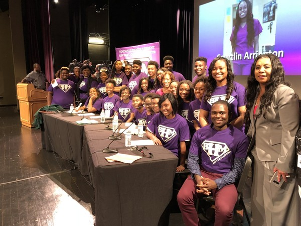 Students on Birmingham City Schools Superintendent's Advisory Council held a town hall to combat gun violence on April 26, 2018.
