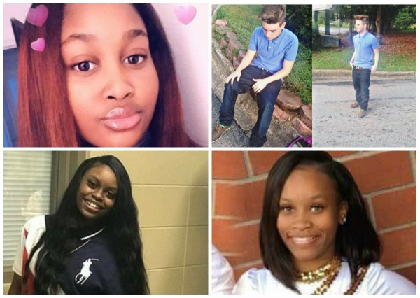 Nyteria Spigner, Nathaniel Holder, Courtlin Arrington and Arrielle Lashawn Parker-Jeffries. All young, all dead in Alabama in 2018.