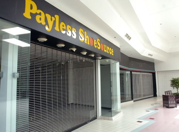 b3d18f899 The sign for Payless ShoeSource is still up, but the store is gone along  with
