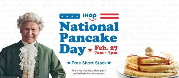 Feb. 27 is National Pancake Day at IHOP and you can celebrate with a free short stack.
