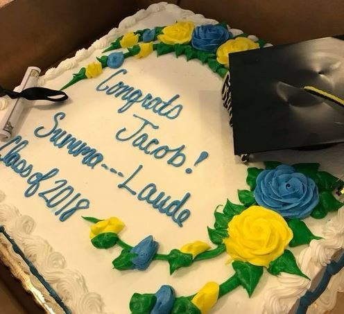 Awesome Publix Censors Cake For Summa Cum Laude Graduate Replaces Word Birthday Cards Printable Riciscafe Filternl