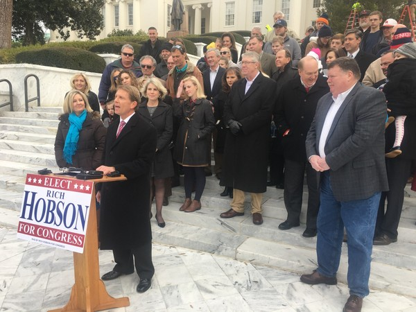 Rich Hobson announces he will run for Congress in Alabama's 2nd District, which extends from Montgomery across the southeast corner of the state.