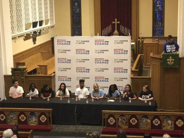 Students from Parkland, Fla., Huntsville and Birmingham encouraged political action in the push to end gun violence at a town hall meeting in Birmingham, Ala., on July 31.