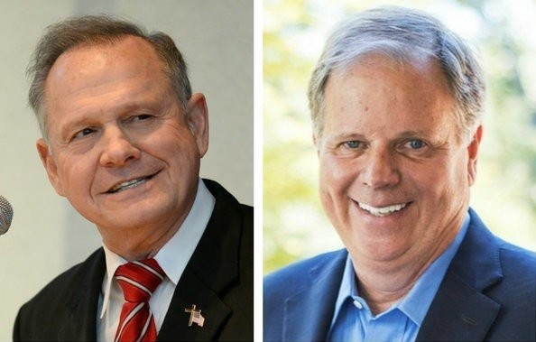 Roy Moore, left, and Doug Jones