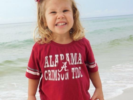 Sadie Grace Andrews died in an accident outside an Auburn ice cream parlor on Saturday, Oct. 14, 2017. The 3-year-old had an amazing love for God and others, her mother said. Sadie loved to say 'Roll Tide' and occasionally would let out a 'War Eagle' for her grandmother who is an Auburn fan, according to family members. (Family photo)