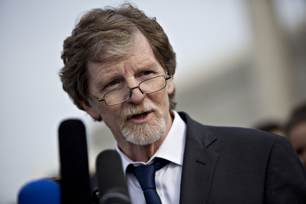 Jack Phillips, owner of Masterpiece Cakeshop, is shown in Washington on Dec. 5, 2017. MUST CREDIT: Bloomberg photo by Andrew Harrer