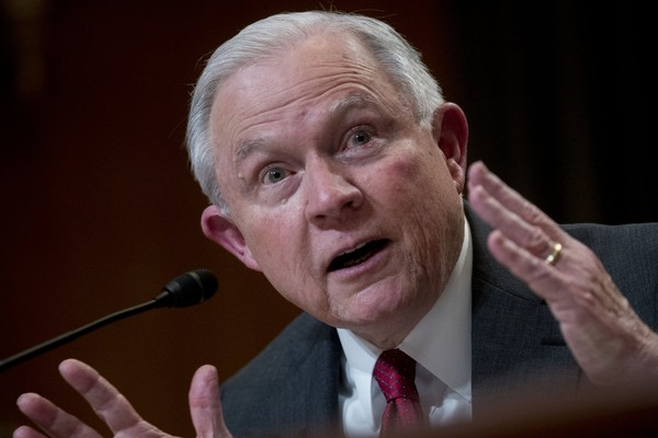 U.S. Attorney General Jeff Sessions at a Senate Appropriations Subcommittee hearing in Washington on April 25, 2018.