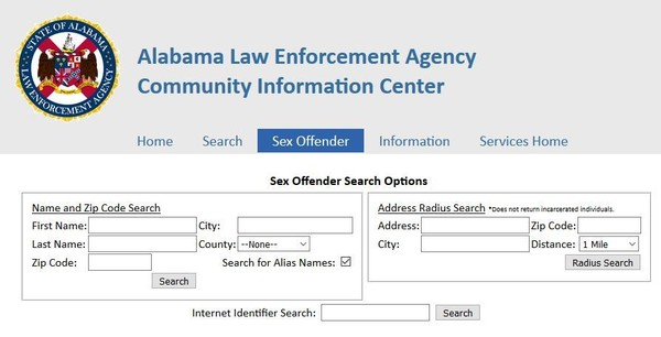 Search sex offender by address
