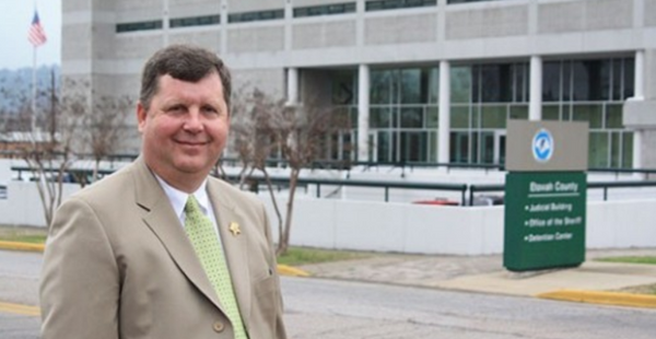 Etowah County Sheriff Todd Entrekin poses in front of the Etowah County jail. (Etowah County Sheriff's Office)