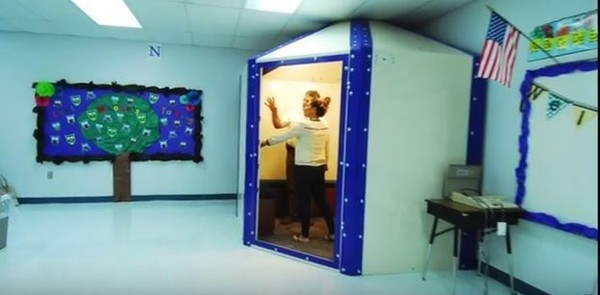 Healdton Public Schools in Healdton, Oklahoma, installed seven bulletproof shelters at its elementary schools and two larger ones in their middle school. (Contributed photo/Shelter-in-Place)