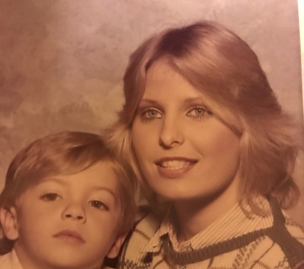 Tina Johnson with her son, about six years before she met Moore at his Gadsden office. (Courtesy of Tina Johnson)