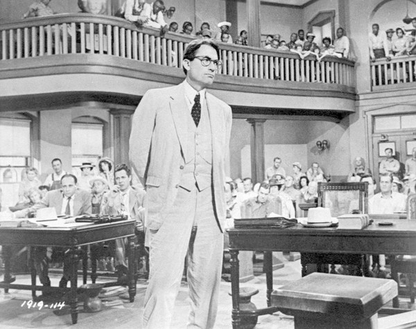 """Gregory Peck is shown as attorney Atticus Finch in a scene from the 1962 movie """"To Kill a Mockingbird."""" (AP Photo)"""