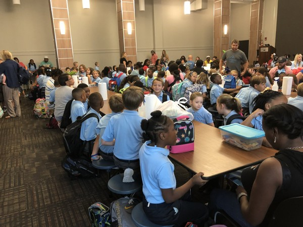 Livingston's University Charter School is one of three Alabama charter schools to win federal education grant money. In this picture, students wait for classes to begin on the first day of school, Aug. 13, 2018.