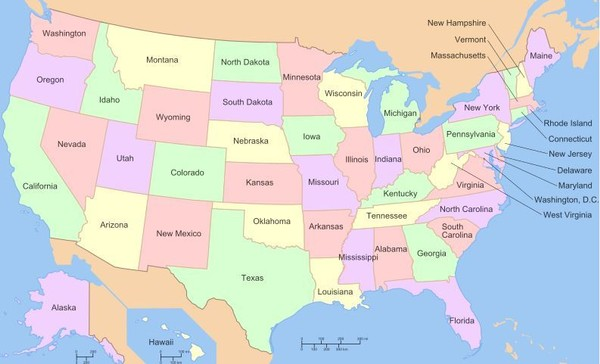 Which state is most often omitted by those trying to list all 50?