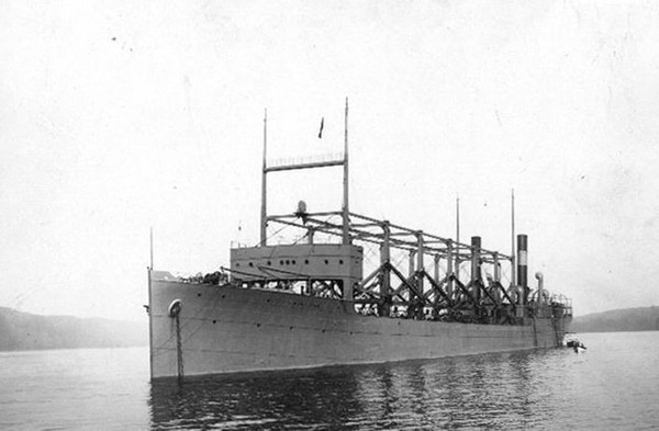 USS Cyclops, which disappeared in 1918 in the Bermuda Triangle, claimed more than 300 lives. (Contributed photo/US Navy)