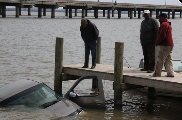 This truck ended up underwater as two men tried to pull their boat out. Bad things can happen quickly on the water. Slow down, take your time, sober up and watch out for other boats, say experts.