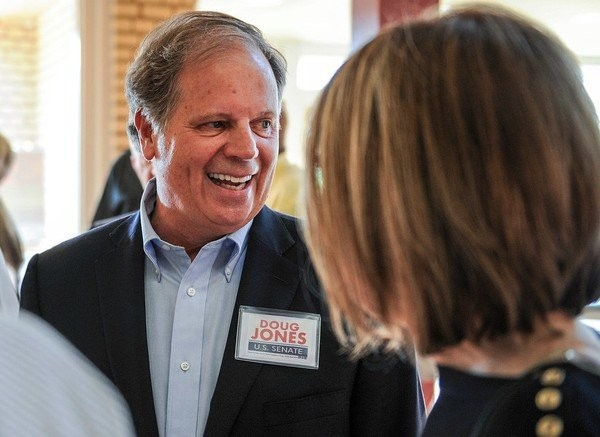 Democrat Doug Jones has been a darling on the campaign trail, drawing large crowds in areas that heavily backed President Donald Trump 11 months ago. But Republicans remain confident that they will win, as they almost always do, during the Dec. 12, 2017, general election. (file photo).