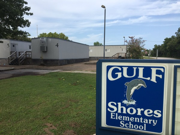 Gulf Shores Elementary School is overcrowded and relies on portable classrooms to handle the influx of students. The Gulf Shores City Council will vote on Monday, Oct. 9, 2017, to form its own city school board and begin the process of breaking away from the Baldwin County School System. (John Sharp/jsharp@al.com).