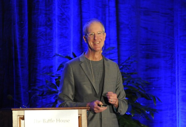 Jeff Speck speaks during the Downtown Mobile Alliance annual luncheon on Friday, Sept. 14, 2018. (Lawrence Specker/LSpecker@AL.com)