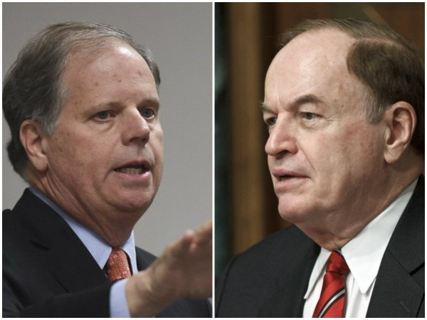 Doug Jones (left), Senator Richard Shelby (right)