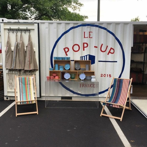 """""""Le Pop-Up"""" is a shipping container turned into a retail venue selling items imported from France. It's a concept created by Birmingham's Westcott Shaw and Dirk Dominick. """"Le Pop-Up"""" has traveled around to locations in Birmingham, Huntsville, Montgomery, Opelika and Auburn. """"For us, the container has been a big, big visual pull,"""" said Dominick. (Photo courtesy of Le Pop-Up)."""