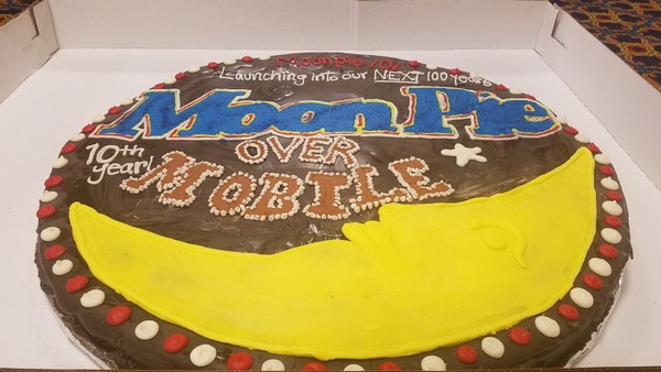 Specially Prepared By Chattanooga Bakery The Worlds Biggest Edible MoonPie Has Arrived In Mobile