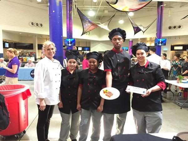Decatur High School's culinary arts teacher Cindy Yates, left, with winning team members Cristina Flores, Alandre Love, Jay'Onna Tennison and Taraysha Alexander.