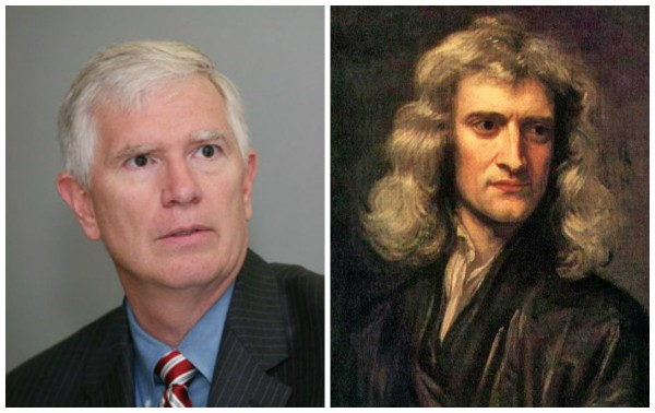 The great scientists: Mo Brooks and Isaac Newton.