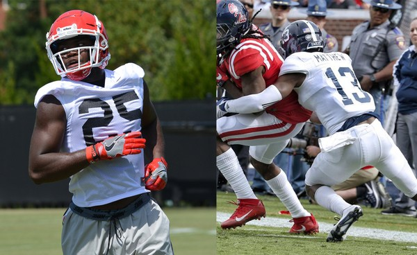 Samford football signed FBS transfers Jaleel Laguin from Georgia and Christian Matthew from Georgia Southern.