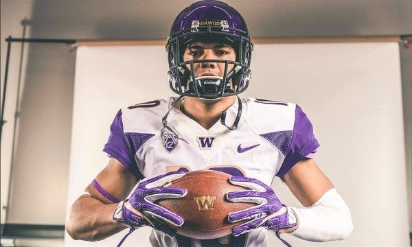Five-star linebacker recruit Ale Kaho is reportedly headed to Alabama after being released from his letter of intent at Washington. (Washington athletics photo)